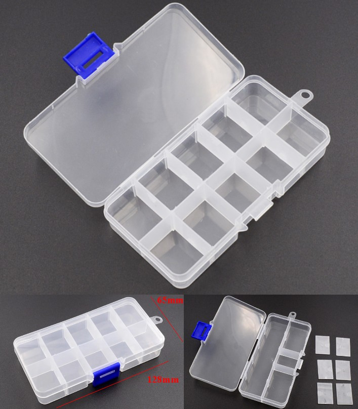 10 Grids Plastic Storage Box for Small Component J