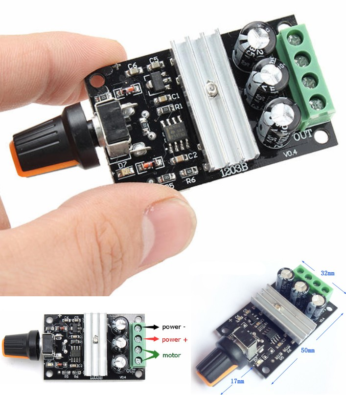 1203B 3A PWM DC Motor Speed Controller Module