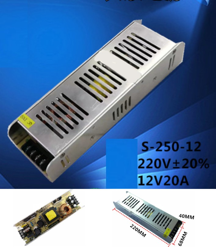 AC 110/220V- 12V 20A Switch Mode Power Supply 240W