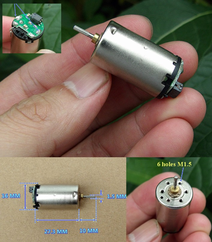 Micro DC 12V 10000RPM strong magnetic motor DIY