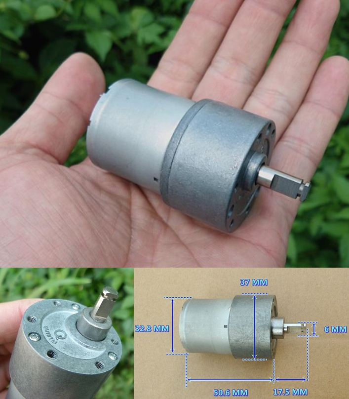 12V 134RPM DC Metal gear motor high torque