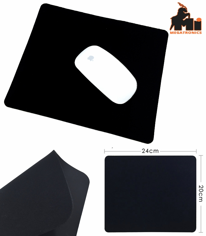 Black mouse pad neoprene mouse pad