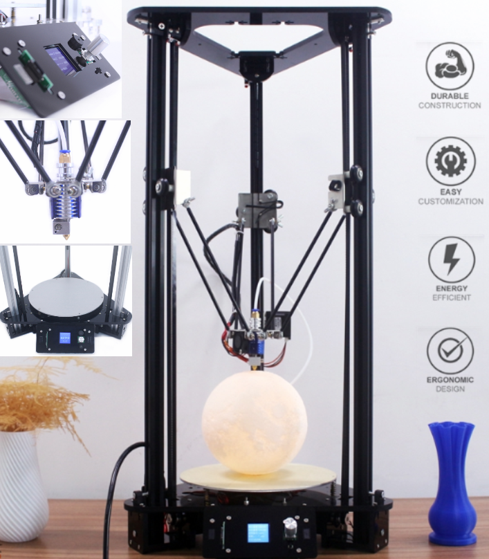 Anycubic Delta Kossel 3D Printer Education diy V2