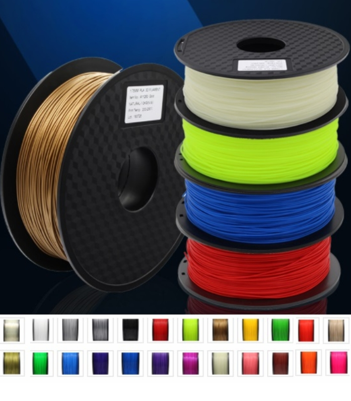 Silver 1KG 3D Printer filament PLA 1.75mm