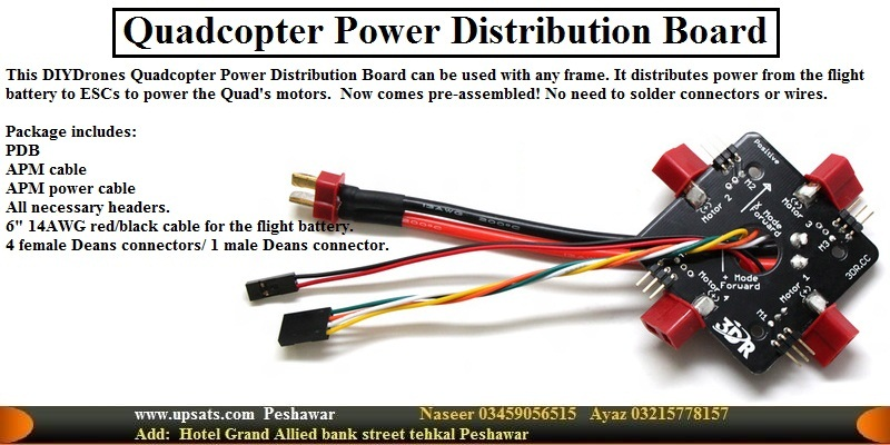 4 Channel quadcopter power distribution board PDB