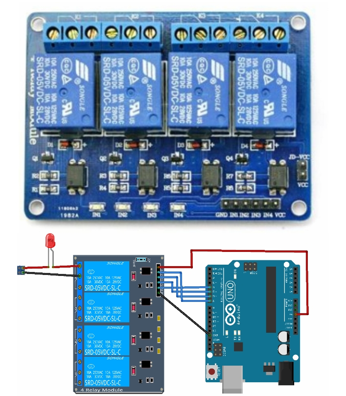 4-Channel 5V Relay Module or bridge motor driver