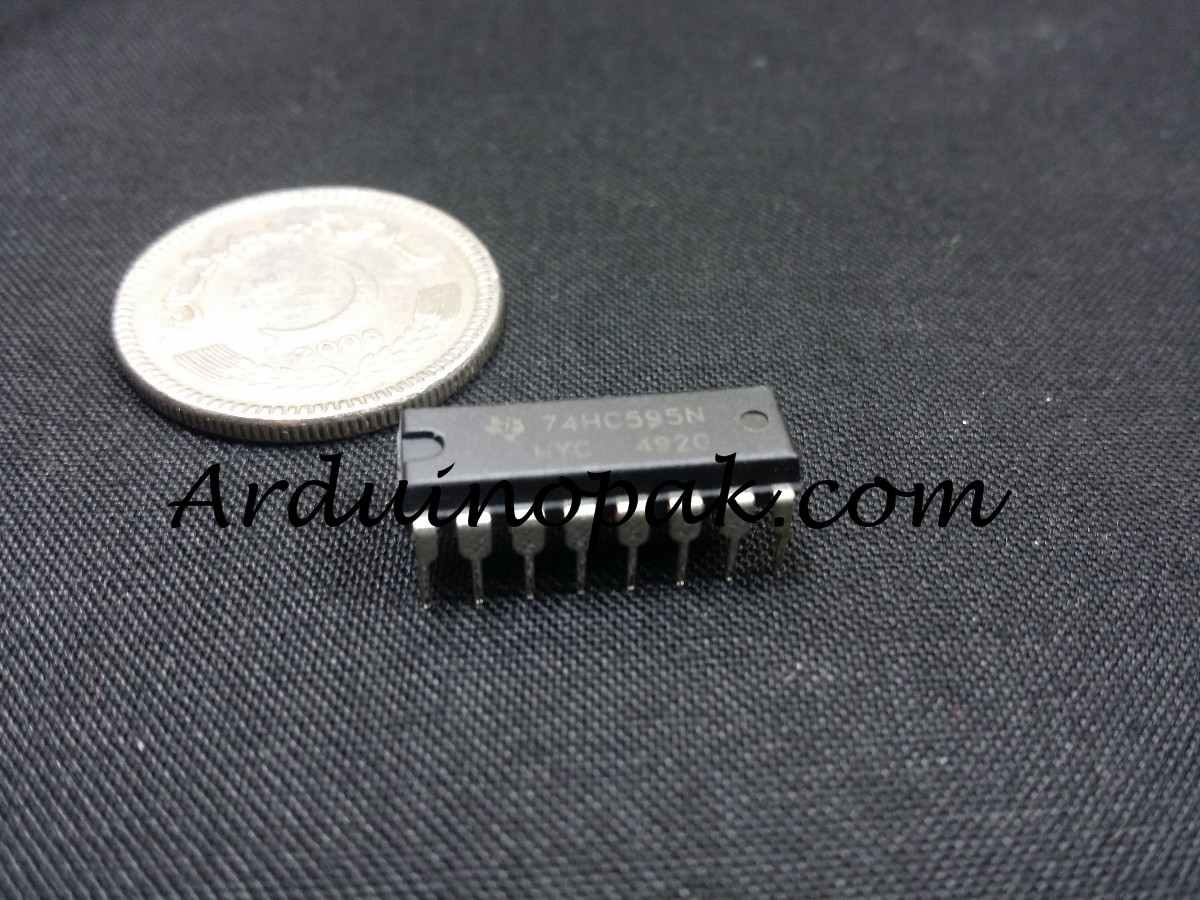 74HC595 IC 8-Bit Shift Register DIP-16 TEXAS Circu