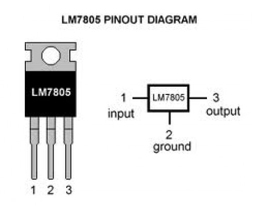 lm7805 Positive Voltage Regulator IC (used)