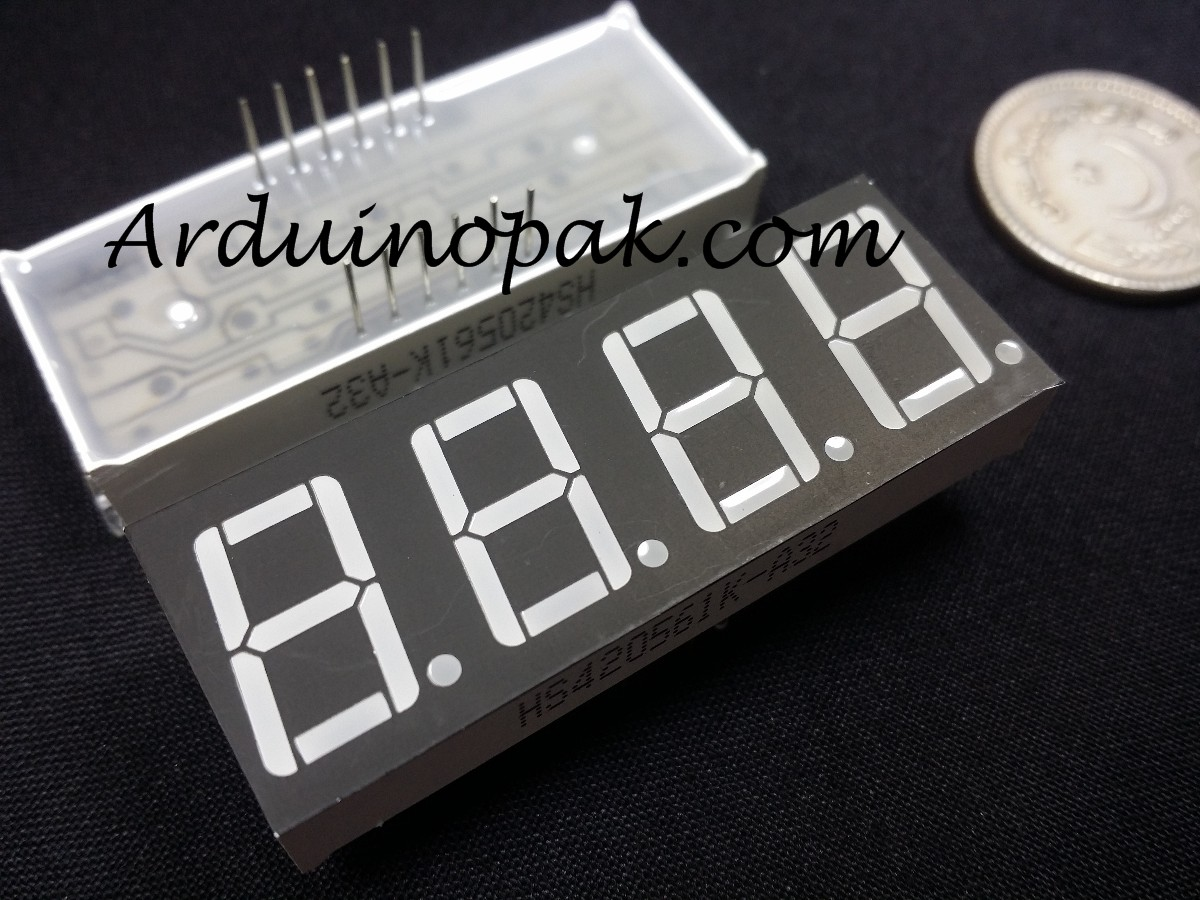 4 Digit Seven Segment Red LED Display 0.56 SM42056