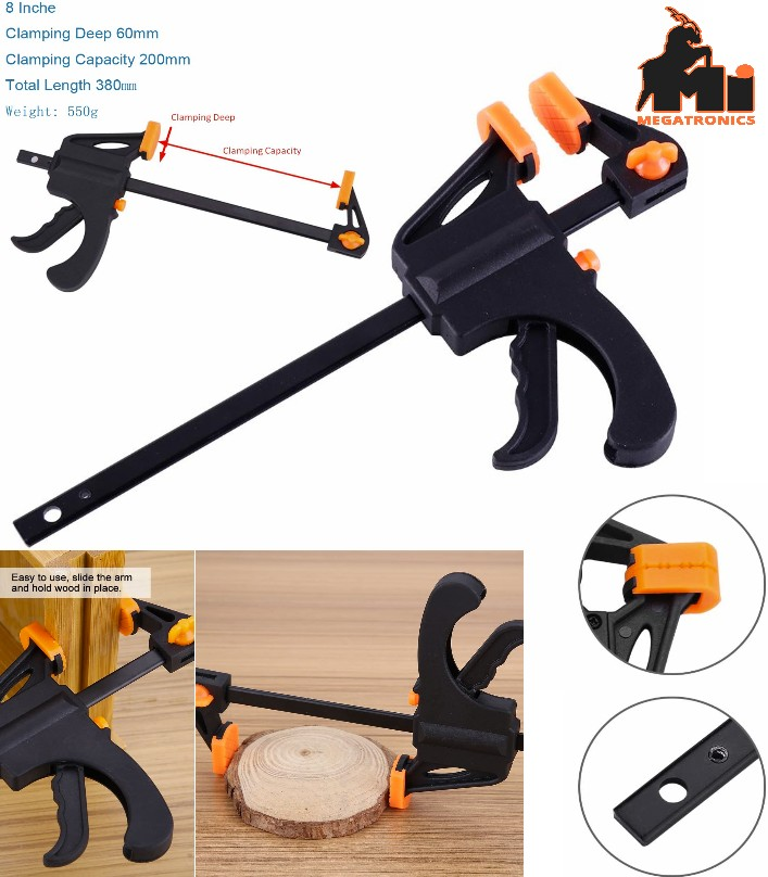 F-Bar Clamp Woodworking F Clamp 8 Inch grip Clip C