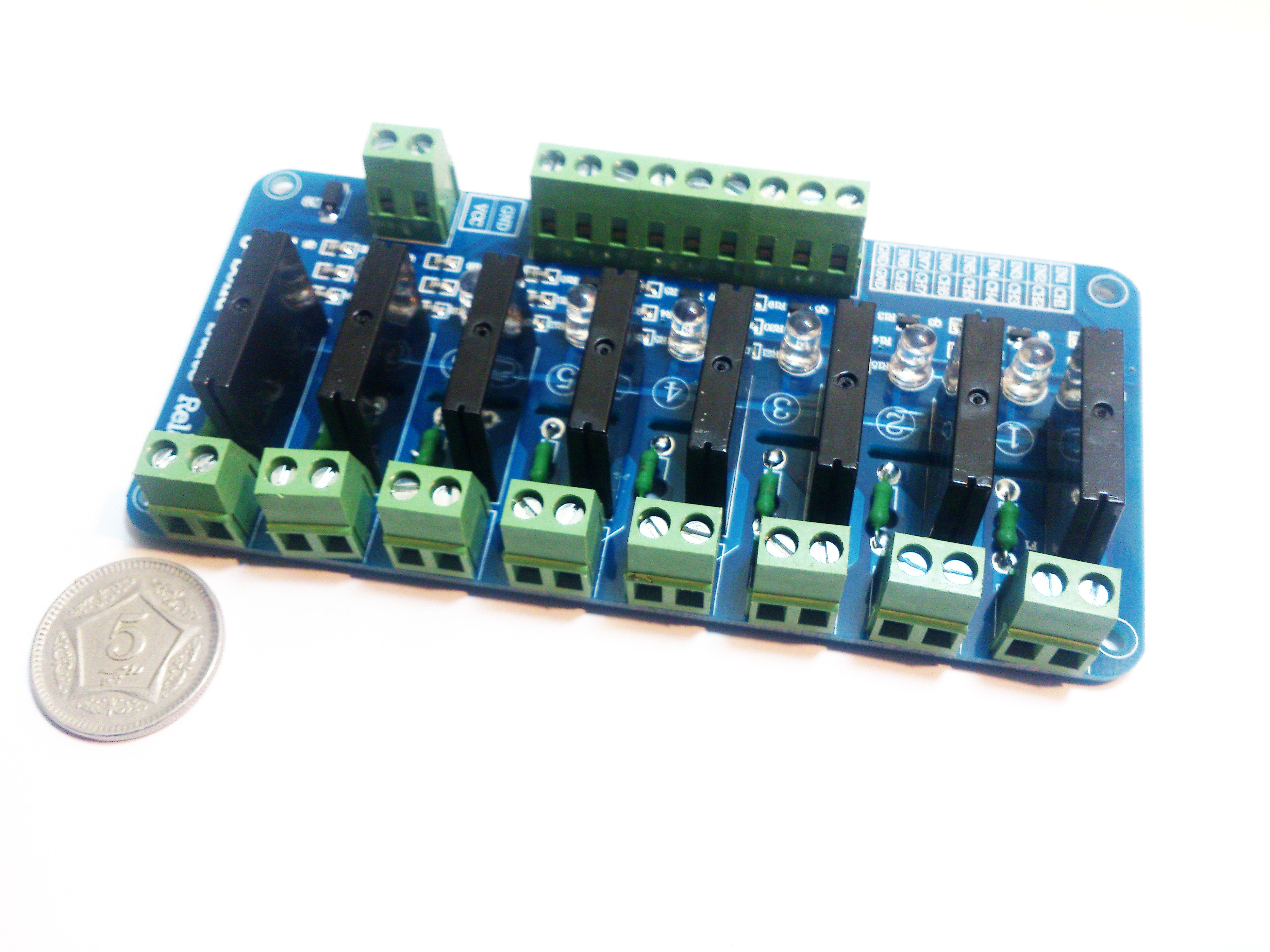 8 Channel Solid State Relay Module Board OMRON SSR