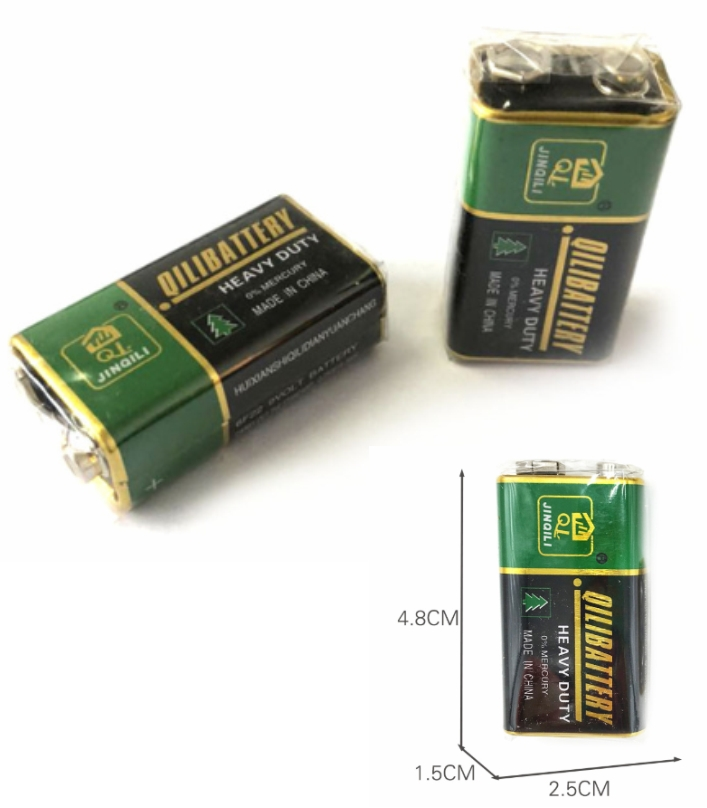 6F22 Super Heavy duty 9V battery 0% mercury