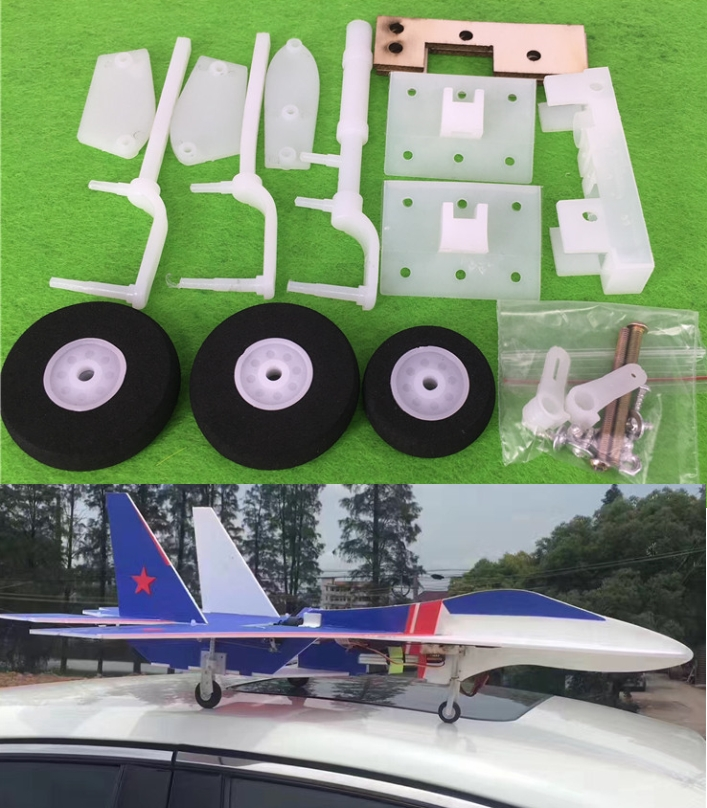 SU-27 aircraft model landing gear airplane