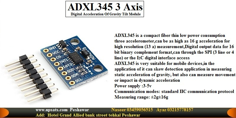 ADXL345 3-Axis Digital Acceleration of Gravity Til