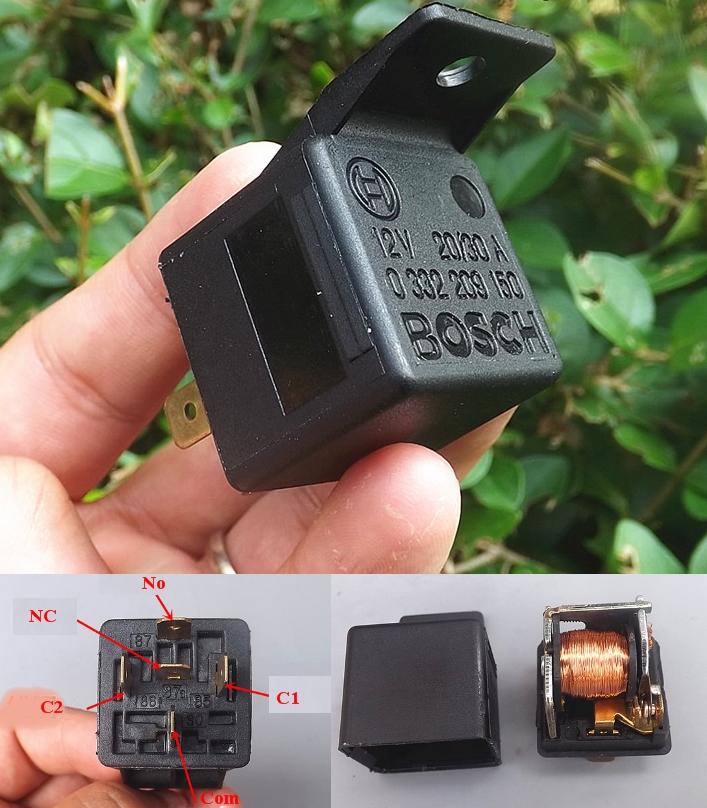 Bosch Automotive Relay 12V 20A/30A High Current
