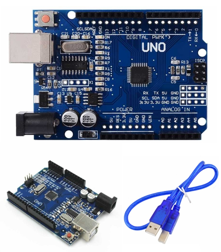 Arduino UNO R3 ATmega328P SMD+USB cable (clone)