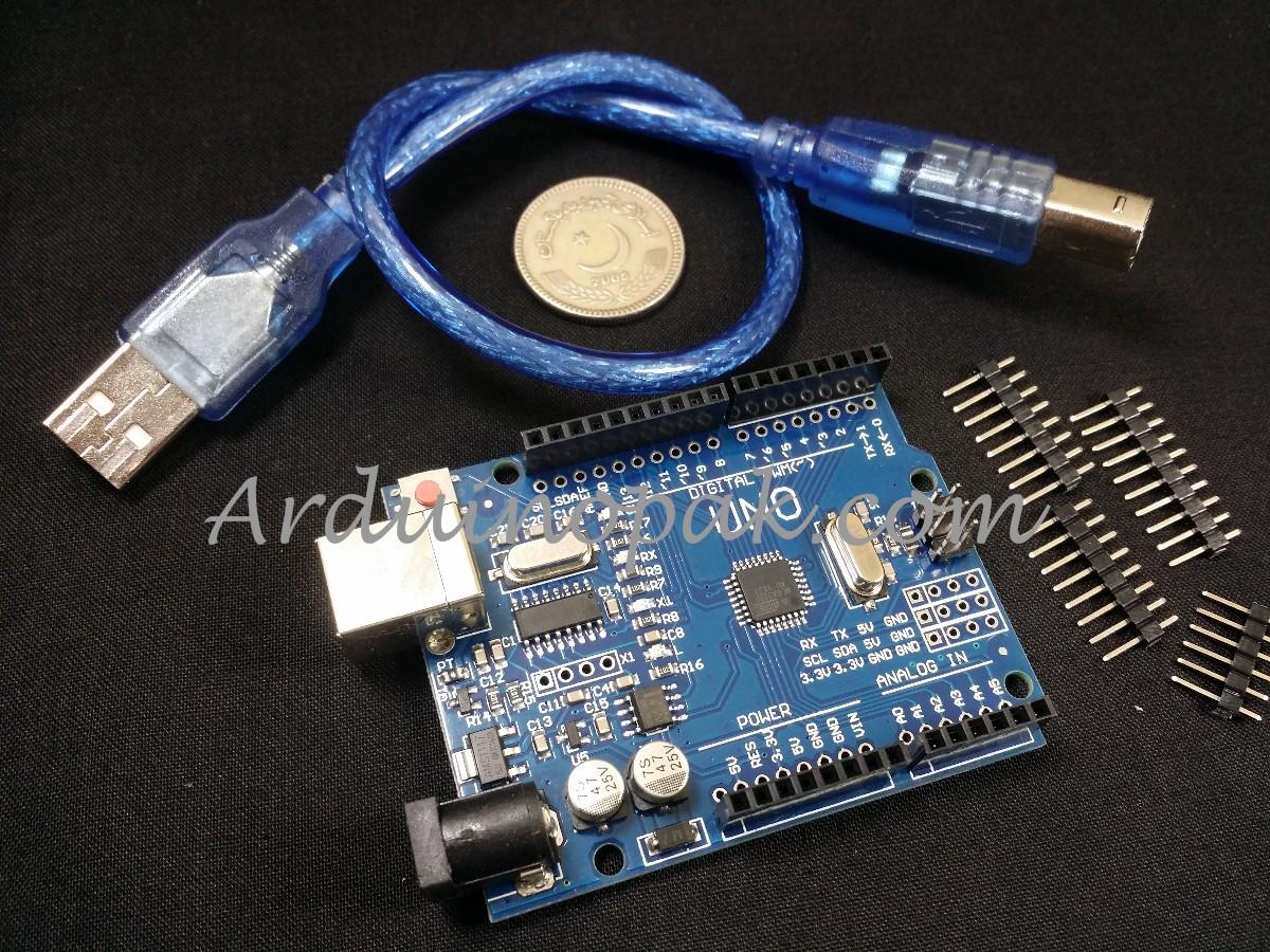 Arduino UNO R3 ATmega328P + USB cable (clone)