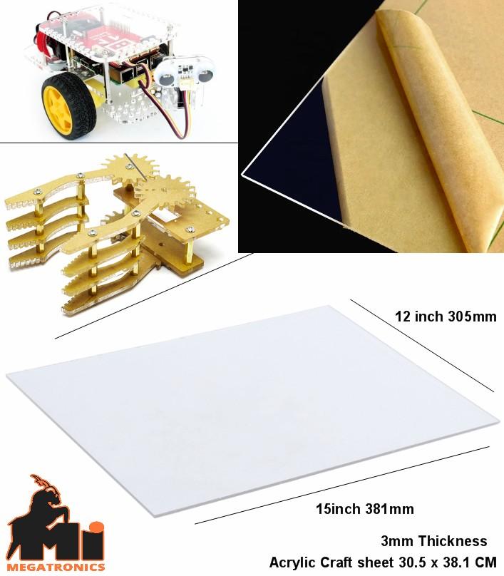 3mm 15X12 Inches Plastic Acrylic Sheet craft sheet Plexiglass Board transparent