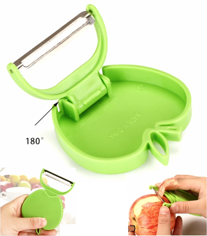 apple Stainless Steel Peeler knife portable Zester
