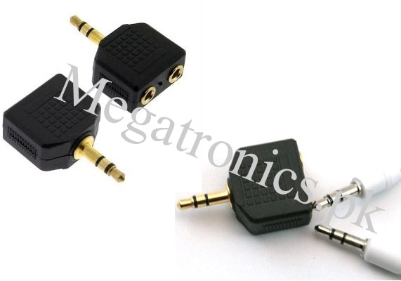 audio 3.5mm headphone converter one to two