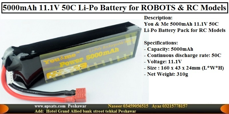 11.1V 50C 5000mAh Li-Po Battery for Robotica R/C H