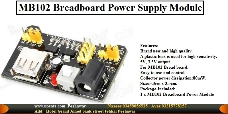 3.3V 5V MB102 Breadboard Power Supply Module For A