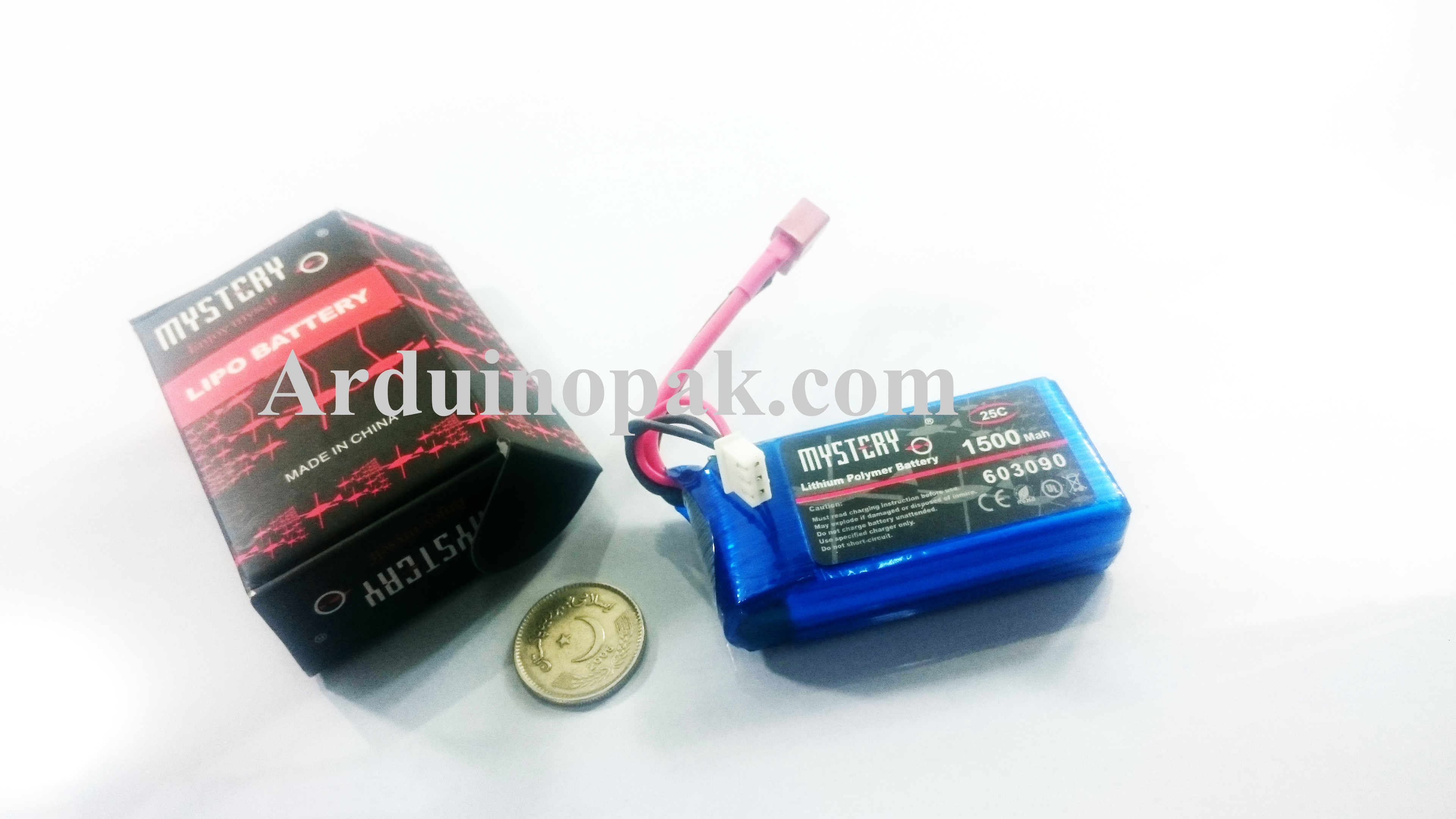 Lipo battery 7.4V 1500mAh 25C  2S