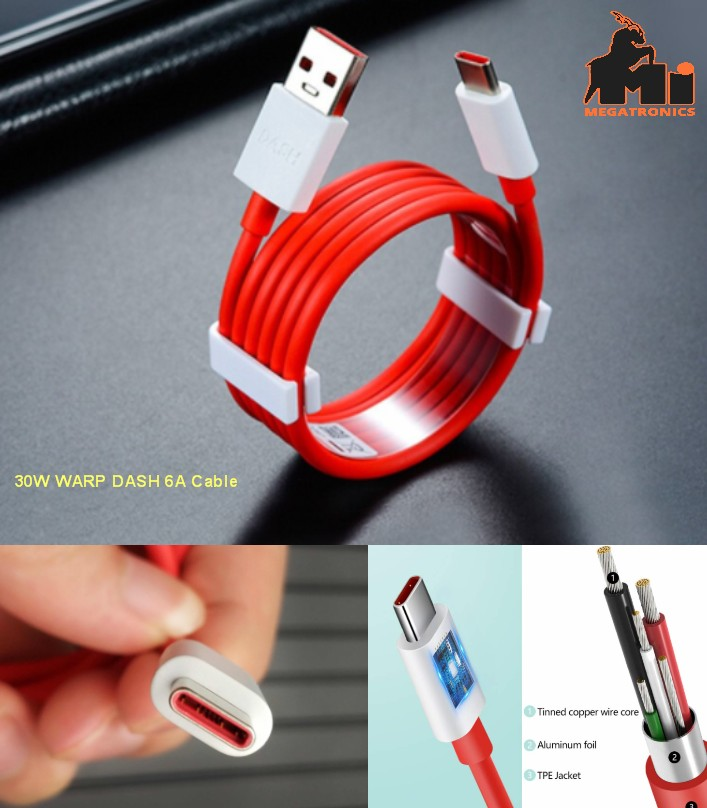 Oneplus 7 8 Pro WARP DASH Charge Cable Fast 6A Usb