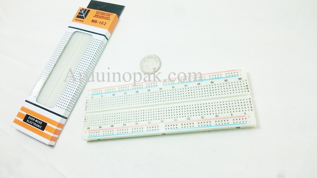 Breadboard 830 points Dual Power Rail MB102