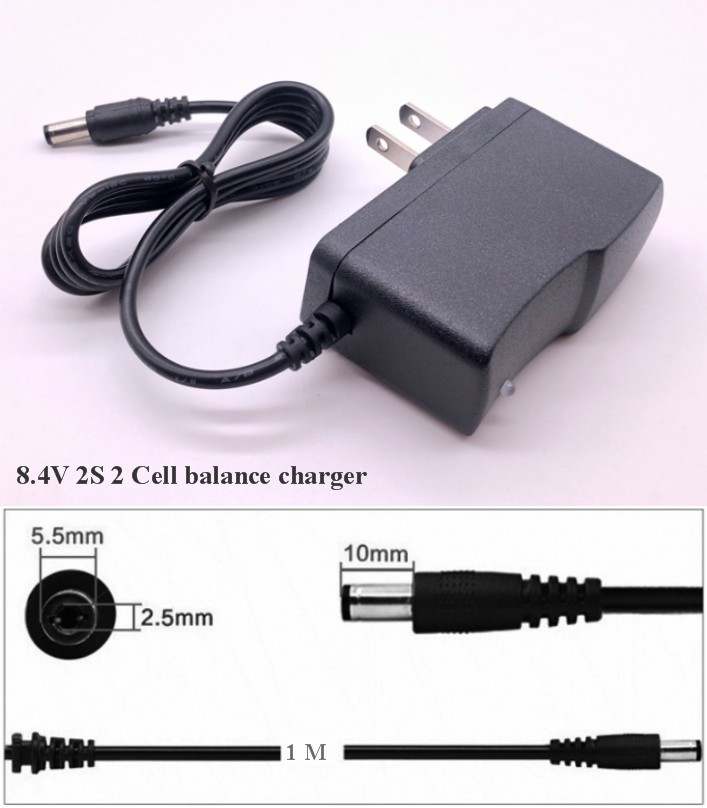 8.4V 1A 2S 2 Cell battery balance charger lithium