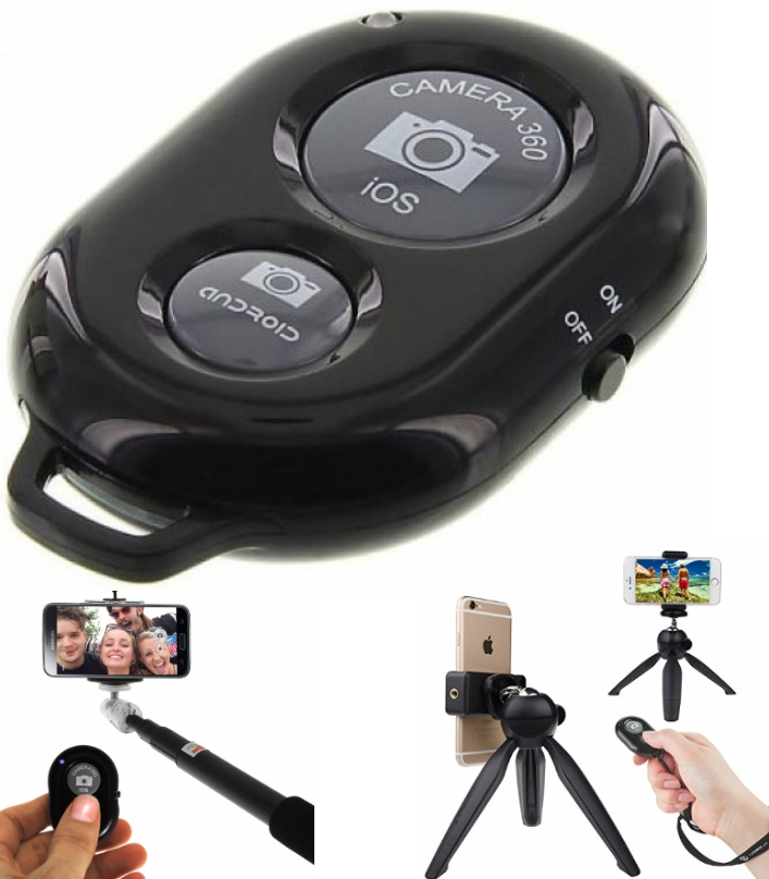 Android iOS Bluetooth Shutter Remote for Selfie St