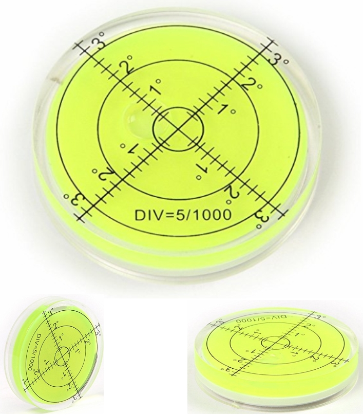 Bubble Spirit Level Circular Bullseye Inclinometer
