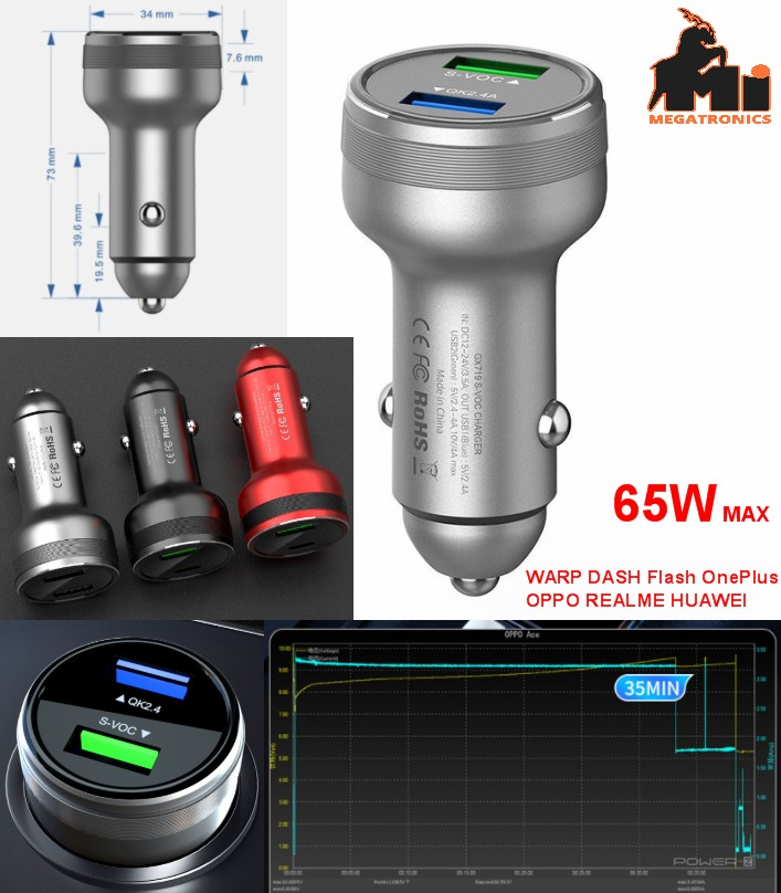 car charger Super Fast Charger SuperVOOC234.0 OPPO