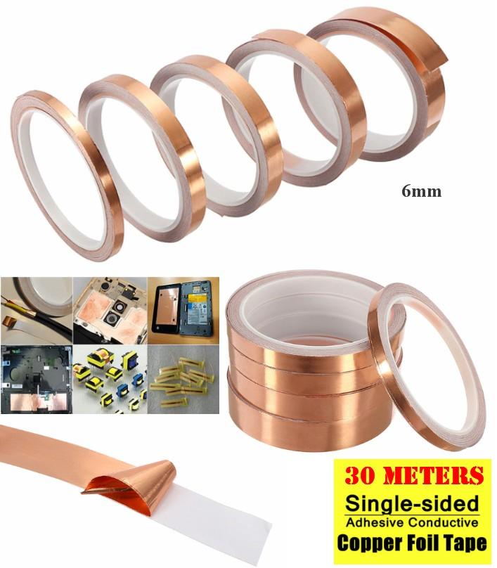 6mm Conductive Copper Foil Tape, self adhesive EMI