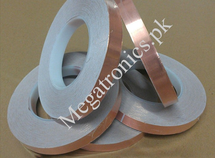 6mm Conductive Copper Foil Tape, self adhesive, EM