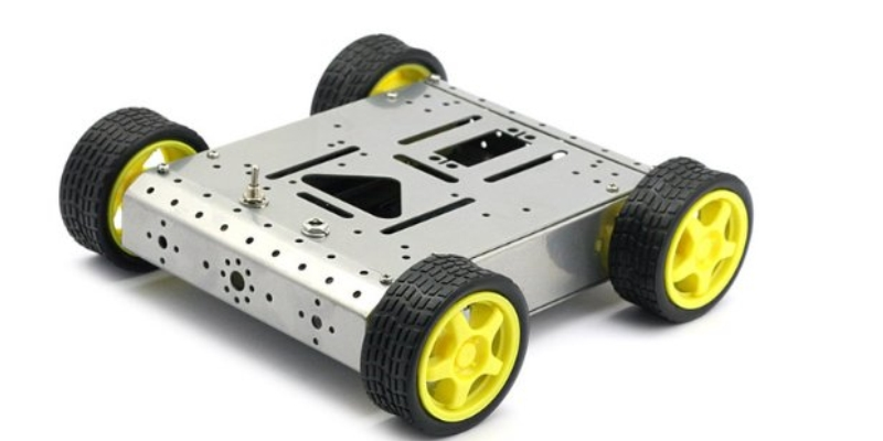 FOUR WHEEL ROBOTIC ROVER CHASSIS, 4WD (Aluminium)