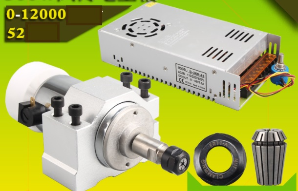 300W high speed Spindle motor with driver CNC