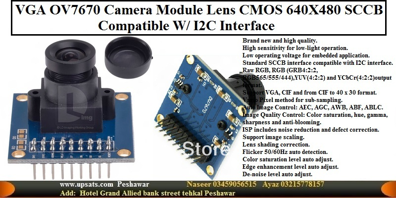 OV7670 camera module SCM Acquisition Arduino