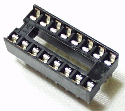 DIP Socket Solder Tail  16 Pin 0.3 inch