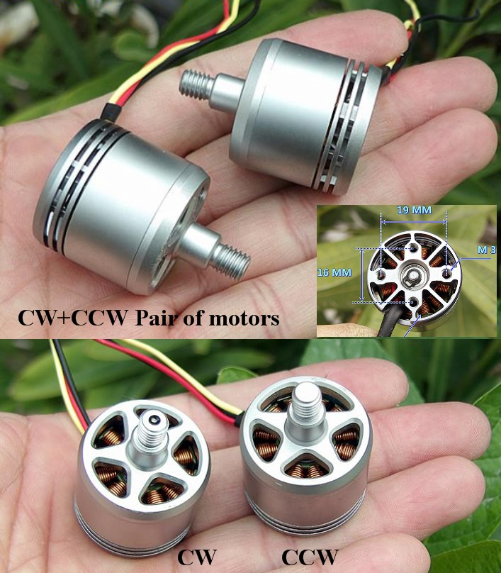 800KV DJI 2312A CW+CCW brushless motors