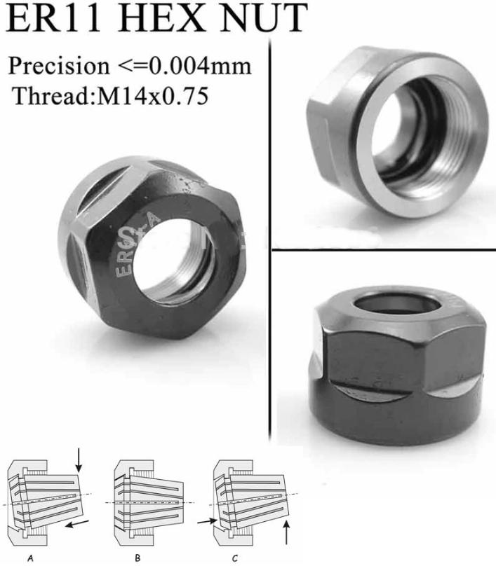 ER11 Hex nut ER11-A CNC screw