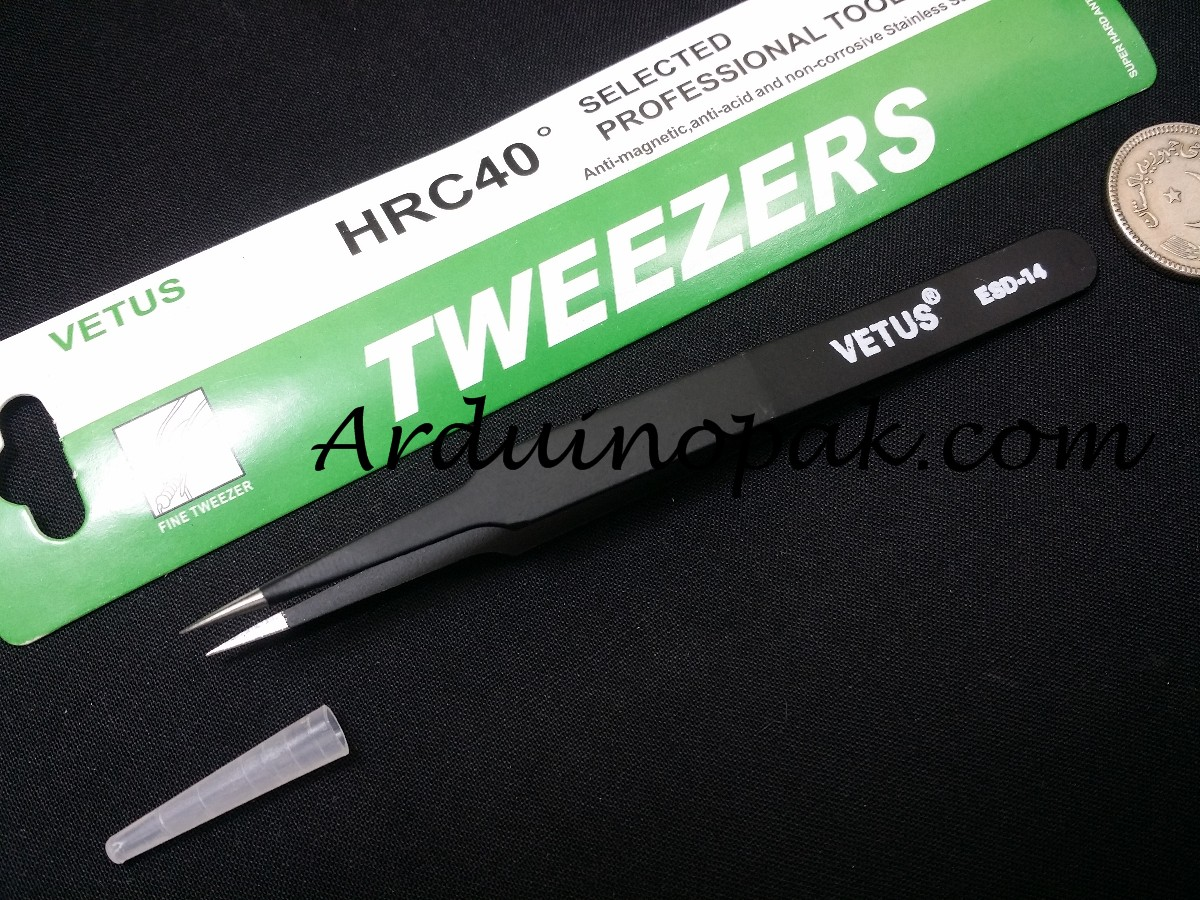 Vetus ESD-14 tweezer Heat Resistant anti static Ce