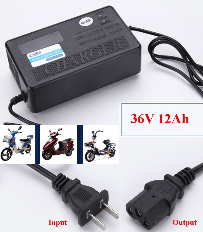 Ebike Electric bicycle charger 36V 12Ah Deep Cycle