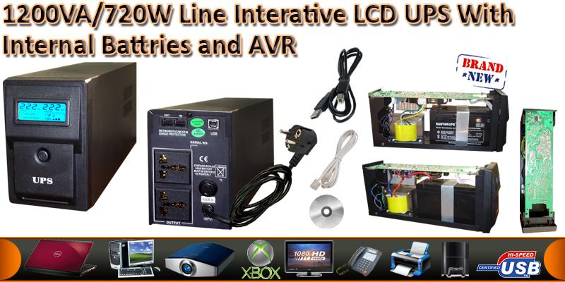1200VA/720W Line Interactive UPS