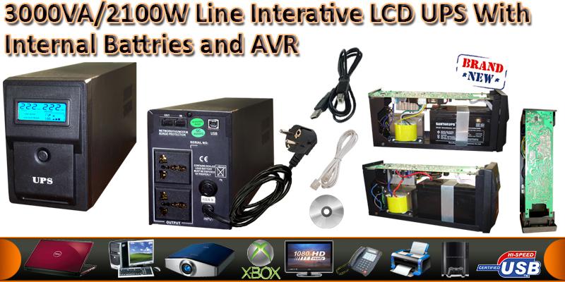 3000VA/1800W Line Interactive UPS