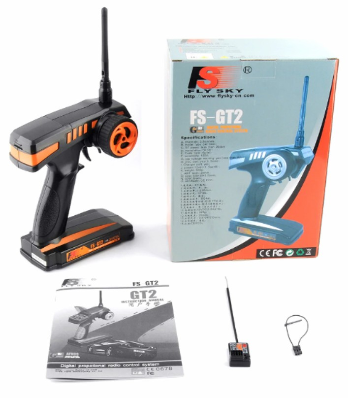 FlySky FS-GT2 2.4G 2-Channel Remote TxRx
