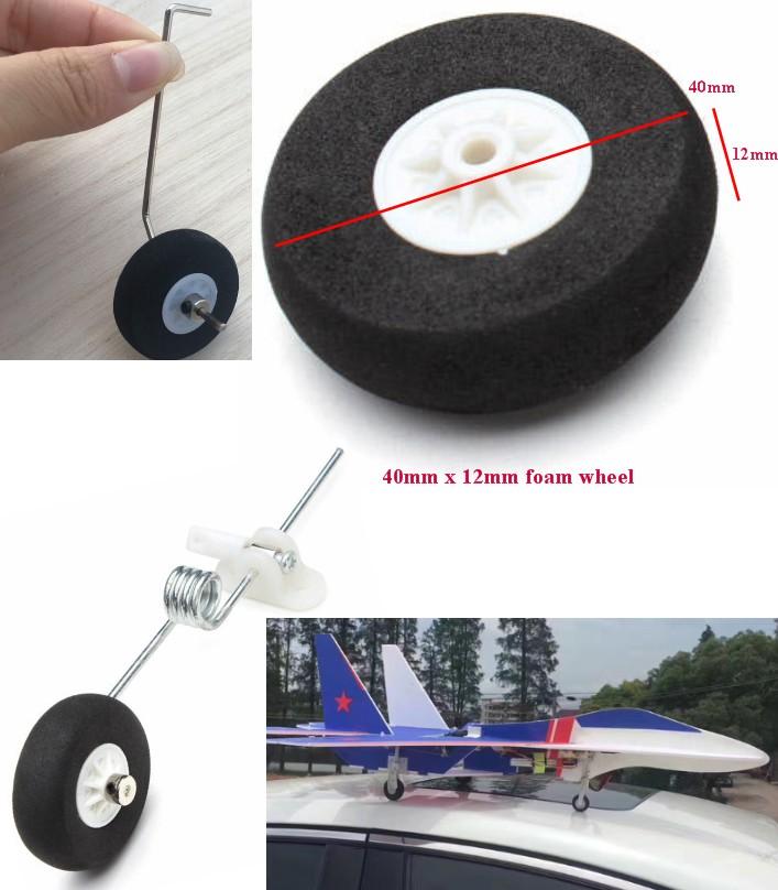RC SU27 foam wheel 40mm x 12mm tyre