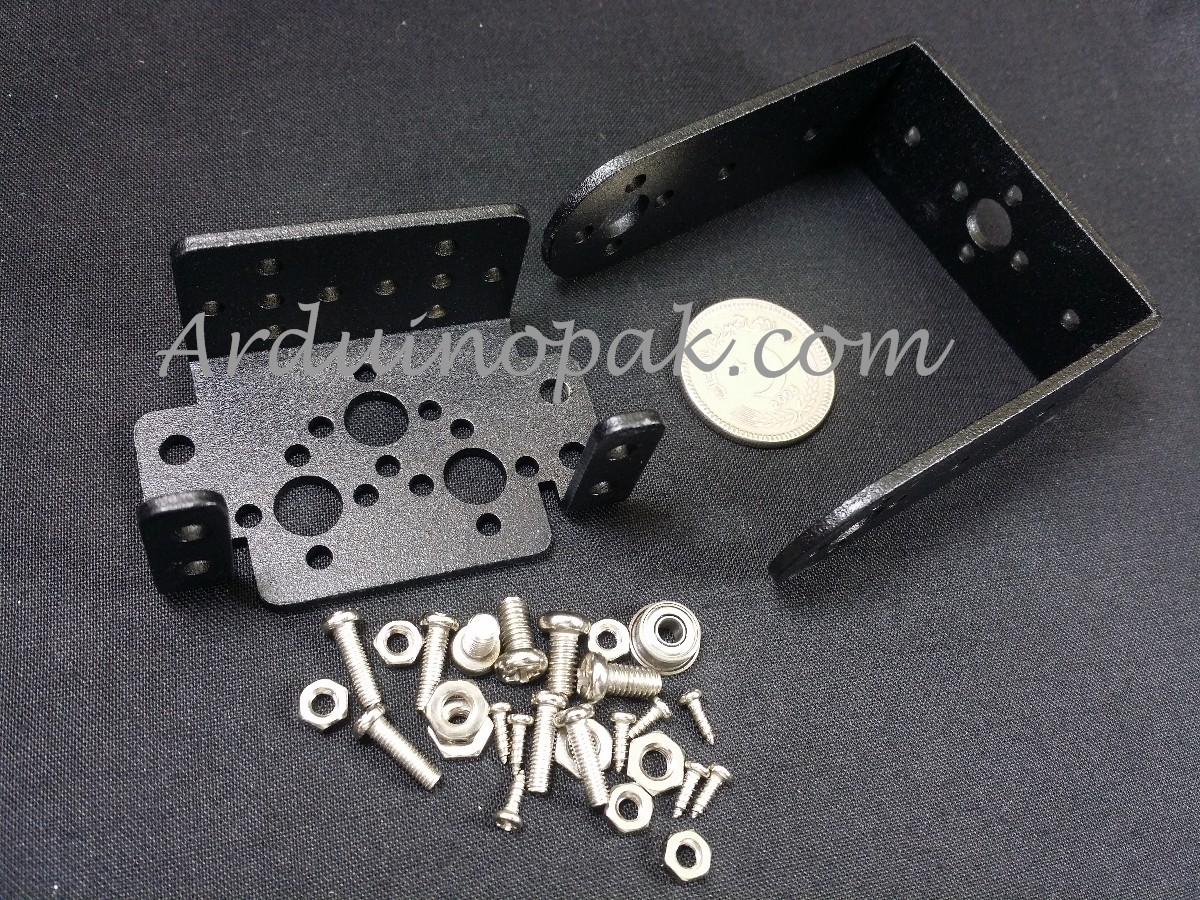 MG995 MG996 2Axis steering gear head bracket 2 DOF