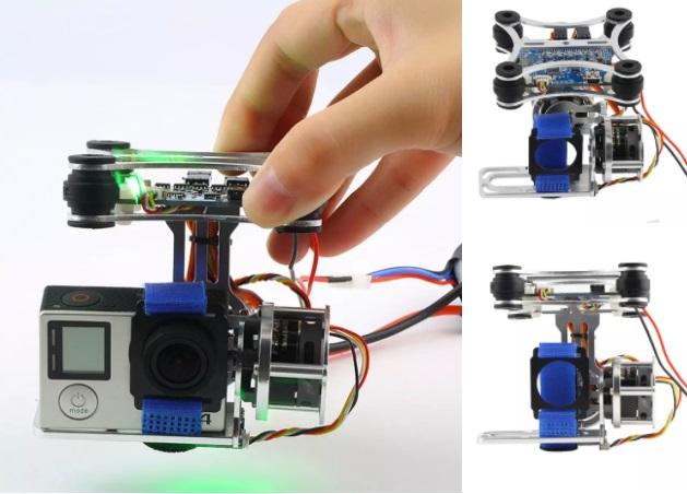 2 Axis FPV Camera Gopro Gimbal PTZ  DJI Hero 3 BGC