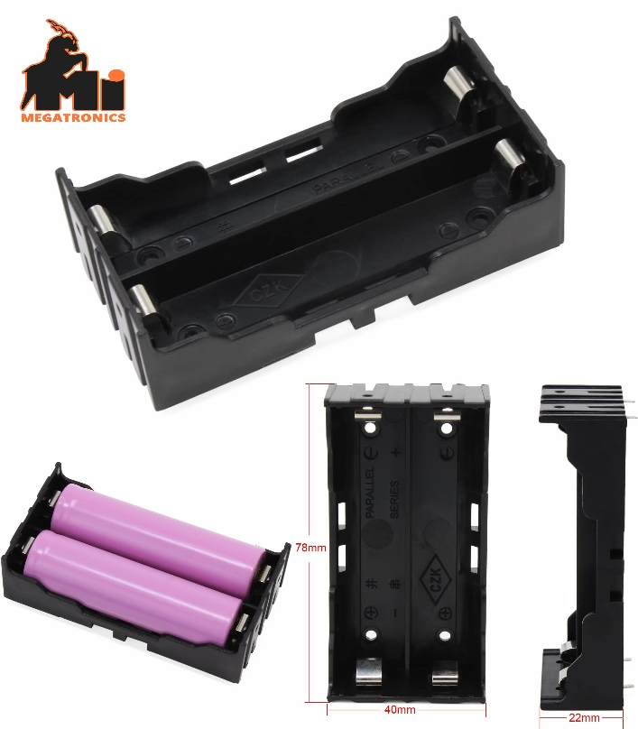 2S 18650 Battery Holder case with Pin 7.4V Storage